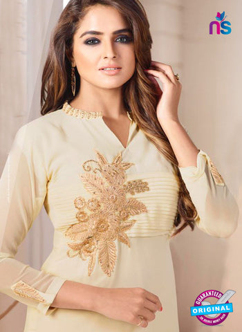 LT 605 Beige Georgette Party Wear Kurti Online