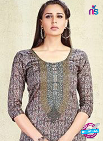AZ 3621 Brown Cotton Satin Pakistani Suit