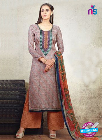 AZ 3623 Grey Cotton Satin Pakistani Suit