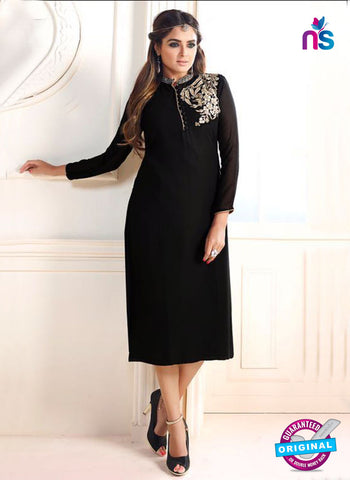 LT 608 Black Georgette Party Wear Kurti