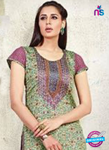 AZ 3624 Green Cotton Satin Pakistani Suit