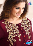 LT 609 Maroon Georgette Party Wear Tunic