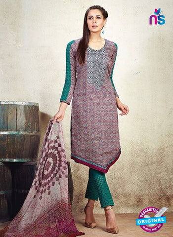 AZ 3626 Maroon Cotton Satin Pakistani Suit