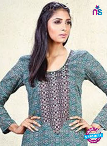 Karma 609 B Sea Green Cotton Satin Pakistani Suit Online