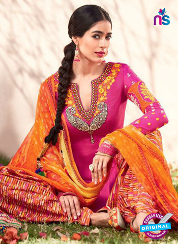 Heer 6101-Pink and Orange Color Cotton Designer Suit