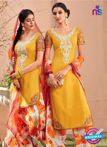 Heer 6103-Yellow, Beige and Orange Color Cotton Designer Suit