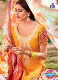 Heer 6103-Yellow, Beige and Orange Color Cotton Designer Suit Online
