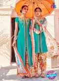 Heer 6104-Green and Multicolor Color Cotton Designer Suit