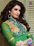 SC 13201 Multicolor and Green Party Wear Pure Nett Straight Suit Online