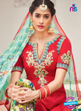 Heer 6107-Red and Multicolor Color Cotton Designer Suit Online