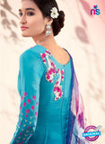 Heer 6109-Blue and Multicolor Color Cotton Designer Suit Online