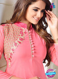 LT 610 Pink Georgette Party Wear Kurti