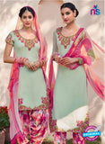 Heer 6111-Green and Pink Color Cotton Designer Suit