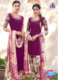 Heer 6113-Purple and Beige Color Cotton Designer Suit