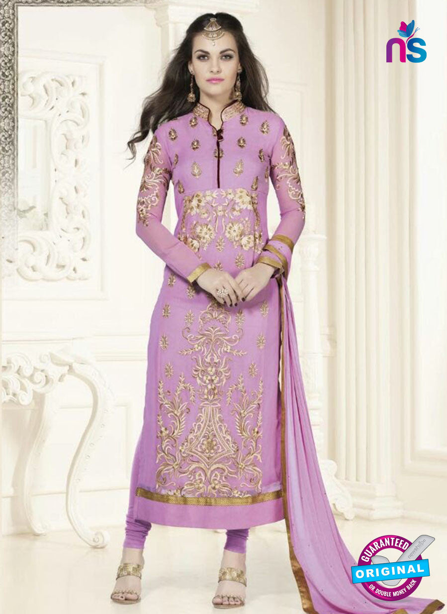 SC 12757 Purple and Golden Georgette Party Wear Straight Suit