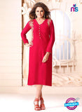 LT 612 Red Georgette Party Wear Kurti