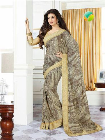 Vinay Fashion Star Walk  16987  Beige Party Wear Georgette Saree