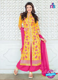 SC 13279 Yellow and Pink  Embroiderd Georgette Suit