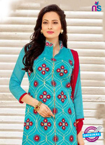 SC 42206 Sky Blue Party Wear Suit