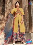 Heer 6205 Multicolor and Yellow Embroidered Cotton Party Wear Suit