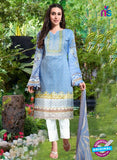 NS10666 Royal Blue Pink and Black Printed Cambric Cotton Designer Straight Suit