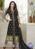 NS10453 Black and Grey Faux Georgette Straight Suit