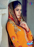 Heer 6303 Yellow and Purple Embroidered Cotton Satin Party Wear Suit