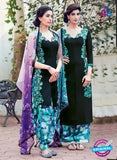 Heer 6310 Green and Multicolor Embroidered cotton satin  Party Wear Suit
