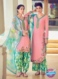 Heer 6311 Multicolor and Pink Embroidered cotton satin  Party Wear Suit