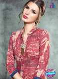 SC 13987 Maroon and Beige Rayon Cotton Western Style Kurti