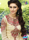 AZ 3393 Beige Embroidered Georgette Party Wear Suit Online