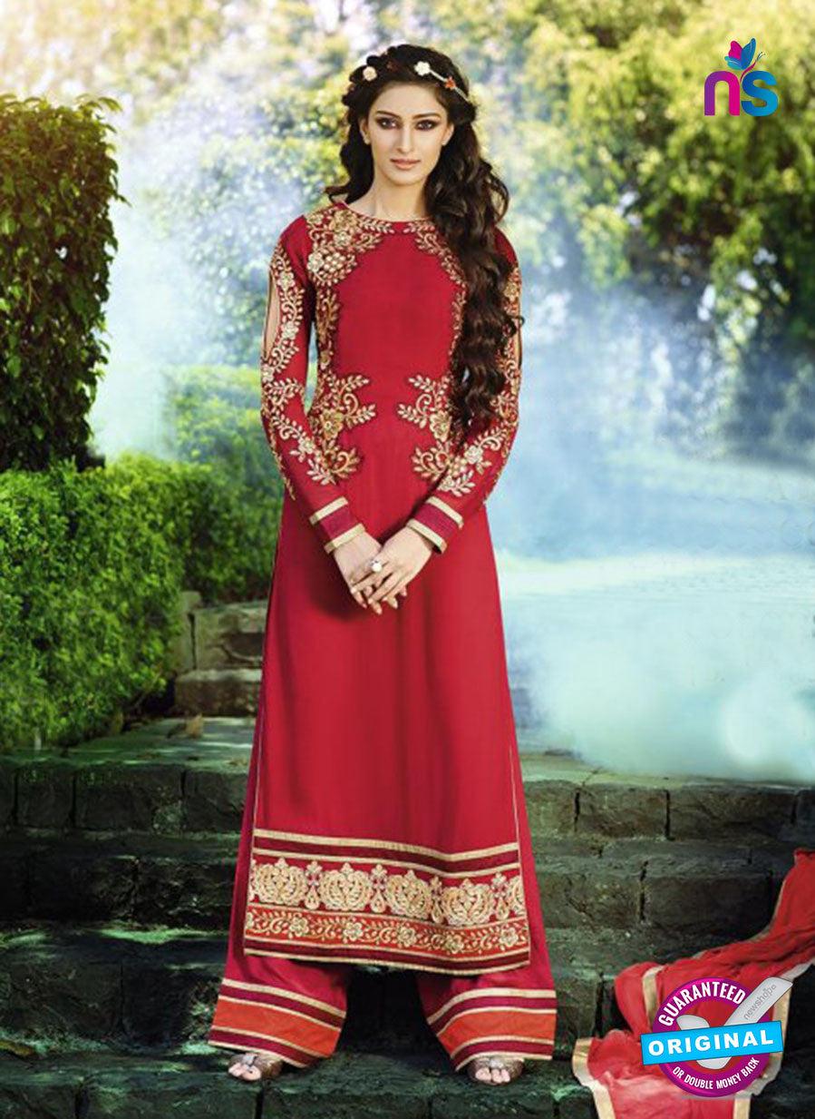 AZ 3394 Maroon Embroidered Georgette Party Wear Suit