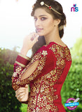 AZ 3394 Maroon Embroidered Georgette Party Wear Suit Online