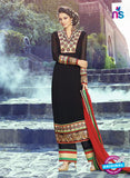 AZ 3395 Black Embroidered Georgette Party Wear Suit