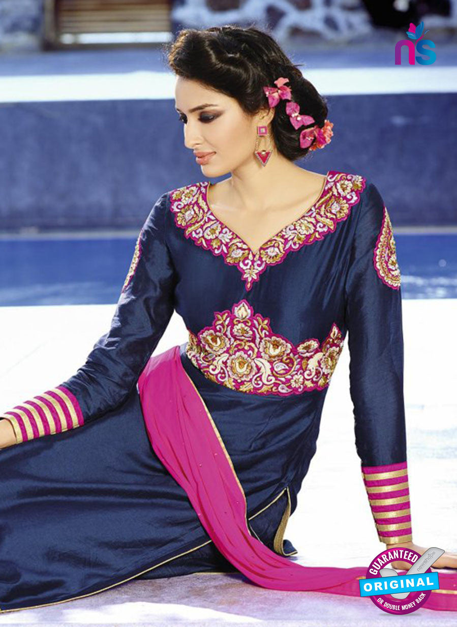 AZ 3397 Blue Embroidered Georgette Party Wear Suit