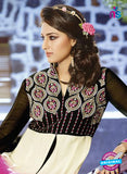 AZ 3398 Black and Pink Embroidered Georgette Party Wear Suit Online
