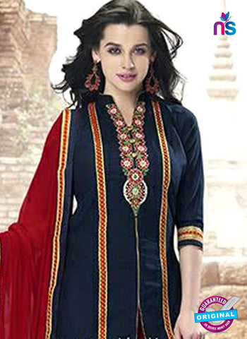 Kessi 6451 Blue Cotton Patiala Suit