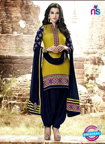 Kessi 6452 Yellow Cotton Patiala Suit
