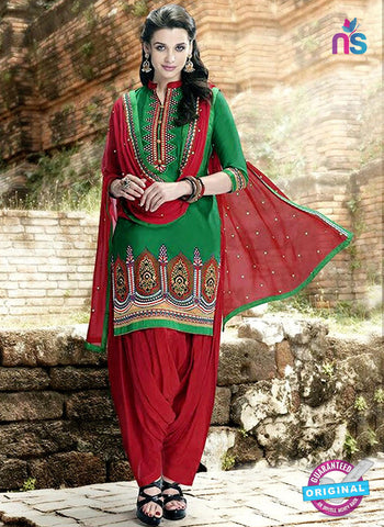 Kessi 6453 Green Cotton Patiala Suit