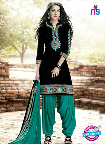 Kessi 6454 Black Cotton Patiala Suit