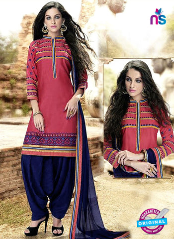 Kessi 6455 Pink Cotton Patiala Suit