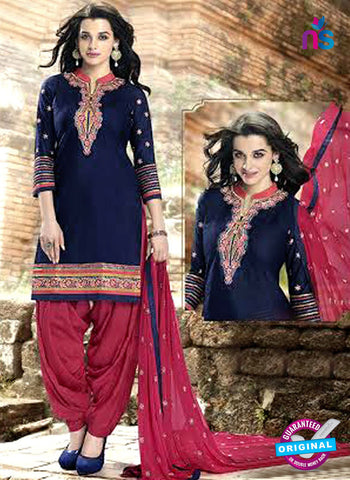 Kessi 6458 Blue Cotton Patiala Suit