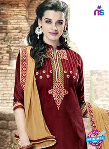 Kessi 6460 Maroon Cotton Patiala Suit