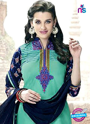 Kessi 6461 Sea Green Cotton Patiala Suit