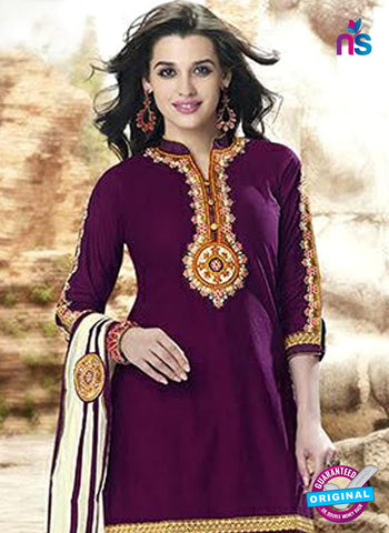 Kessi 6462 Purple Cotton Patiala Suit
