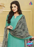 NS 11980 Sea Green and Black Designer Pajami Suit Online