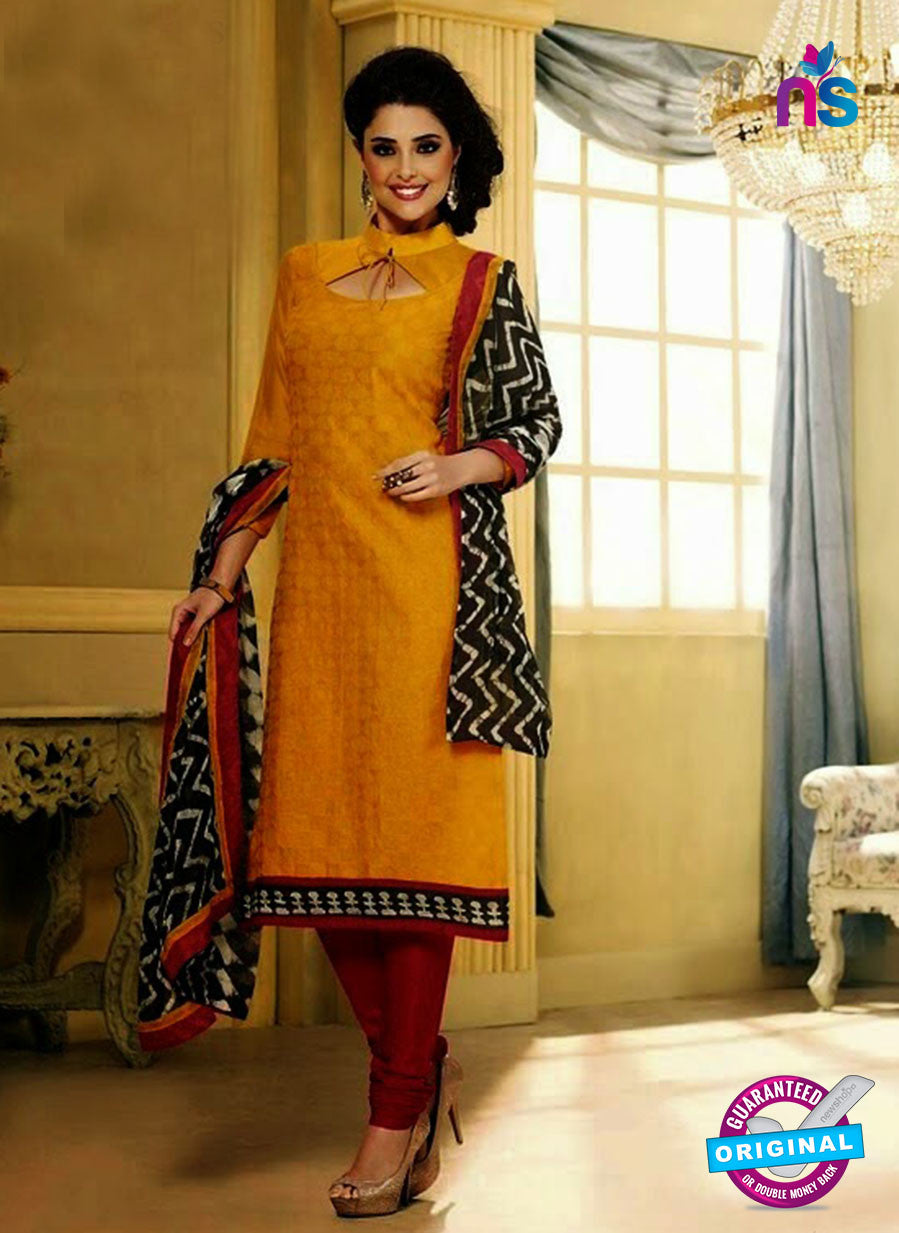 NS 11981 Yellow and Red Designer Pajami Suit