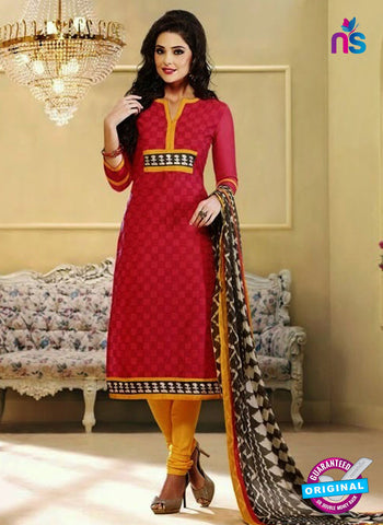 NS 11982 Red and Yellow Designer Pajami Suit