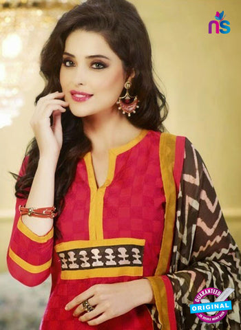 NS 11982 Red and Yellow Designer Pajami Suit Online