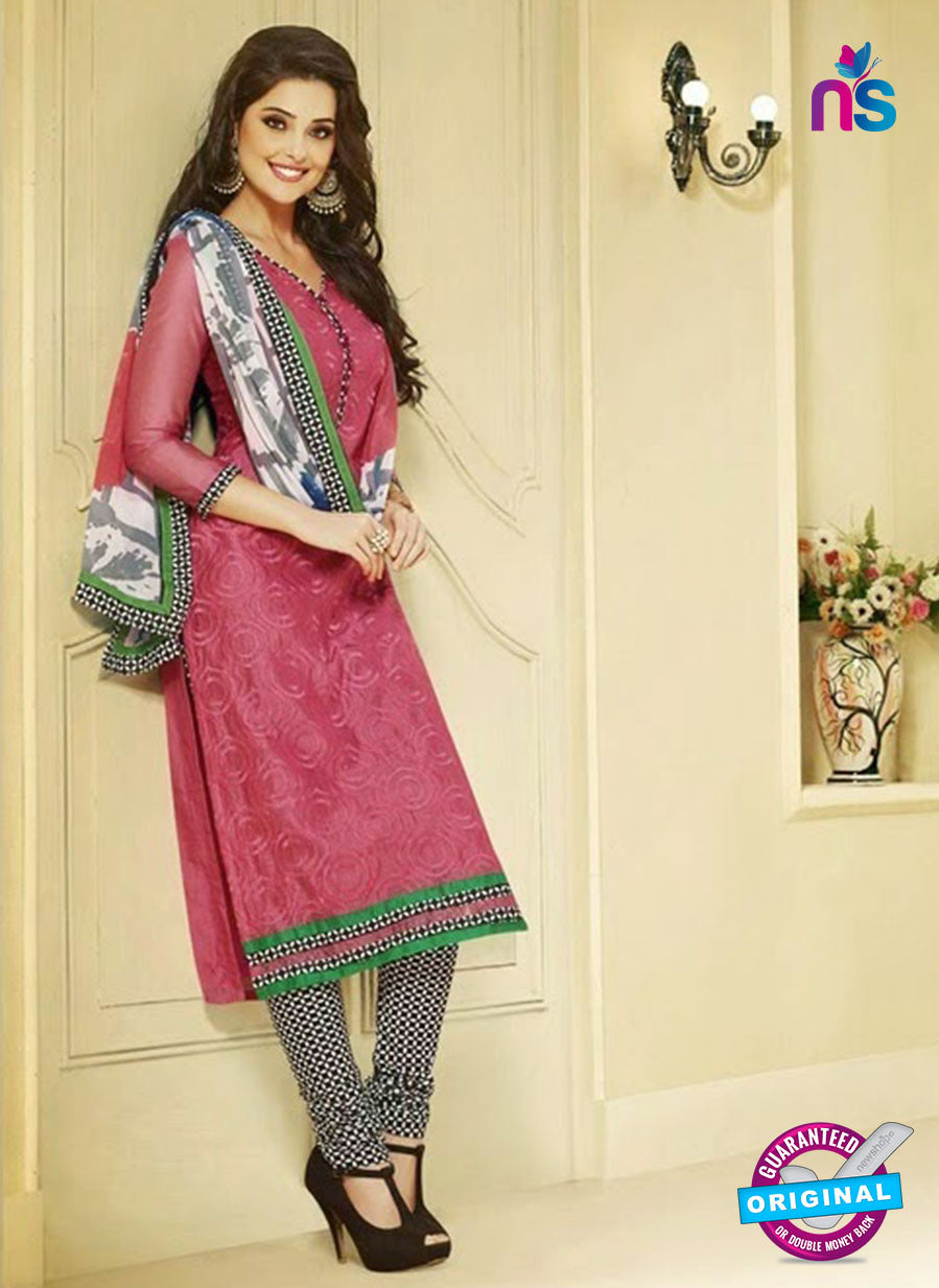 NS 11983 Pink and Black Designer Pajami Suit